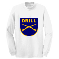 ADULT Pullover Crewneck Sweatshirt, DRILL RIFLES TEXT_Full Color