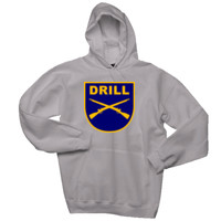 ADULT Pullover Hooded Sweatshirt, DRILL RIFLES TEXT_Full Color