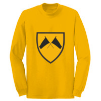 ADULT Long Sleeve Cotton T Shirt, COLORGUARD FLAGS_Full Color