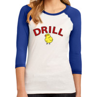 LADIES, 3/4 Sleeve Raglan Colorblock T Shirt, DRILL MOM_Full Color