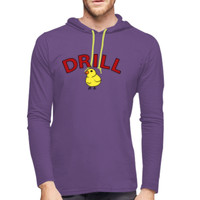 ADULT, Long Sleeve Lightweight Hooded T Shirt, DRILL MOM_Full Color